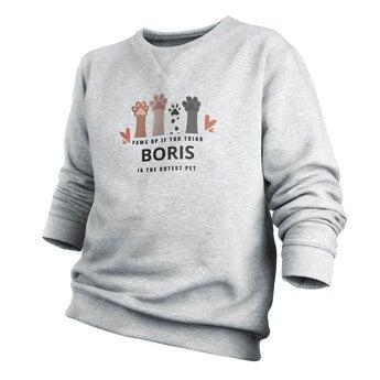 Custom sweatshirt - Menn - Grå - S