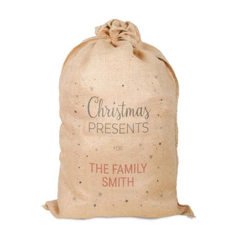 Zsákvászon karácsonyi zsák
