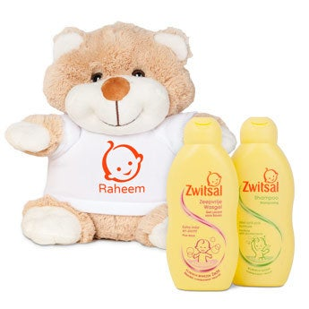 Personalised Zwitsal gift set - Betsy Bear