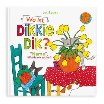 Buch mit Namen-Wo ist Dikkie Dik  (Softcover)