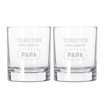 Vatertag Whiskygläser Set