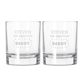 Father's Day whisky glasses set