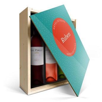 Luc Pirlet - Merlot, Syrah en Sauvignon - In bedrukte kist