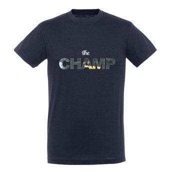 T-paita - Miehet - Sininen - XL