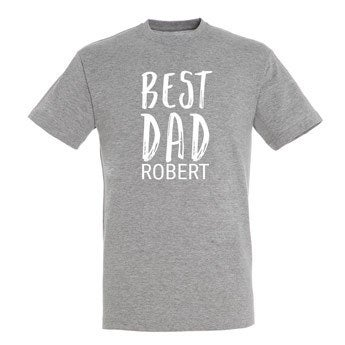 Family T-shirt - Men - Grey - S