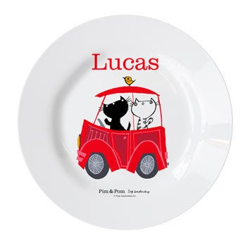 Pim & Pom Children's plate - Car (3)