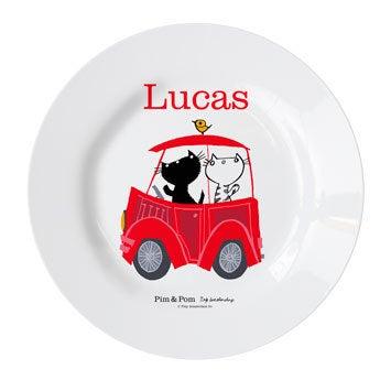 Pim & Pom Children's plate - Car (3)