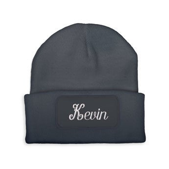 Embroidered beanie - Grey