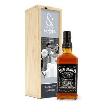Jack Daniels whiskey - In bedrukte kist