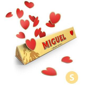 Barra de Toblerone mediana - Amor - 100 gramos