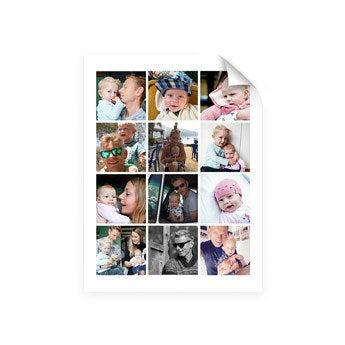 Daddy & me collage poster