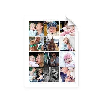 Papa en ik - Foto collage poster (30x40)