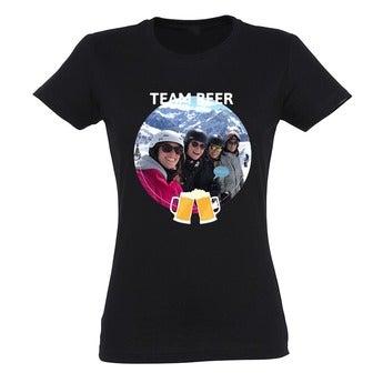 T-shirt - Vrouw - Zwart - XL