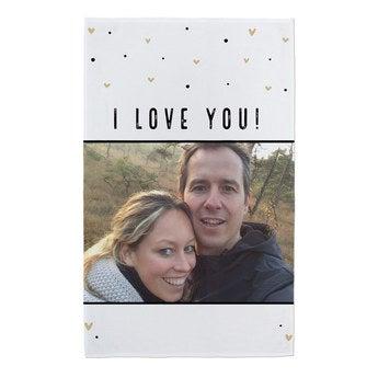 Kuscheldecke Valentinstag mit Foto (120x190cm)