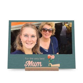 Biglietto legno Festa della Mamma - orizzont.