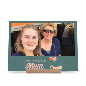 Drevená karta Deň matiek - horizontálne