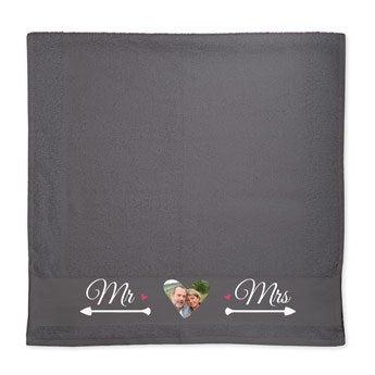 Handdoek met foto - Antraciet