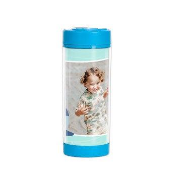 Vlastný pohár na pitie - Modrá