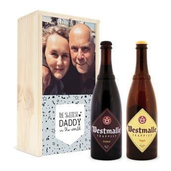Beer in personalised case - Westmalle Double & Tripel