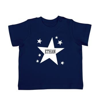 T-shirt bébé - Manches courtes - Bleu marine