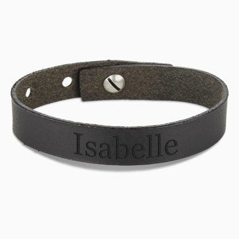 Leather bracelet women - Black