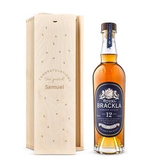 Royal Brackla 12y whisky in engraved case