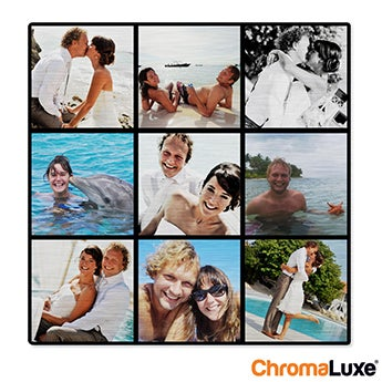 Chromaluxe Aluminium photo - Brushed - 40x40cm