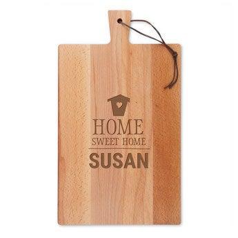 Dřevěný servírovací talíř - Bukové dřevo - Obdélníkový - Portrét (L)