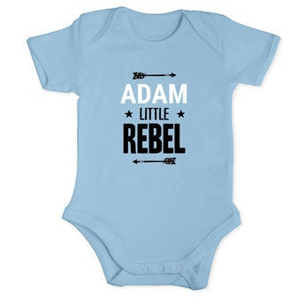 Baby Romper - manga curta - azul bebé 50/56