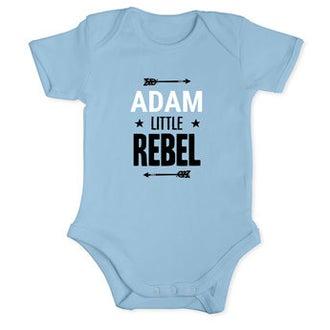 Babybody Babyblå kort ärm