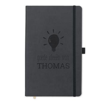 Notitieboek met naam - Zwart
