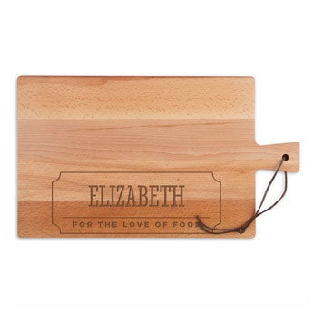 Doska z dreveného syra - buk - obdĺžnik - krajina (L)
