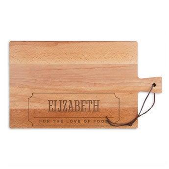 Dřevěná deska na sýr - buk - obdélník - krajina (L)