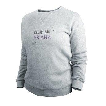 Custom sweatshirt - Kvinner - Grå - XXL