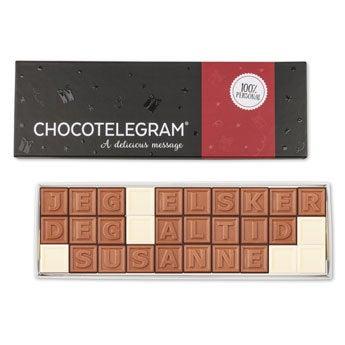 Chokolade telegram - 30 tegn