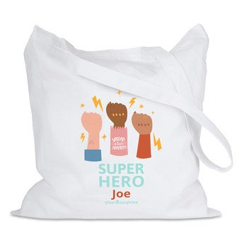 Bolsa de tela - Blanco - Superhéroes