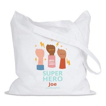 Placená taška - Bílá - Superhrdinové