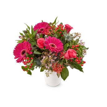 Boeket met paarse bloemen