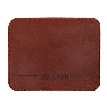 Individuais de couro personalizados - Brown