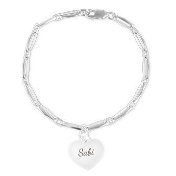 Silver charm bracelet - Heart