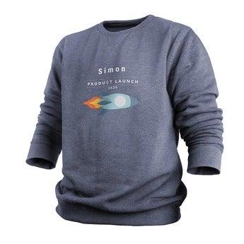 Custom sweatshirt - Menn - Indigo - XL