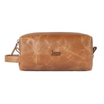 Kožená kozmetická taška