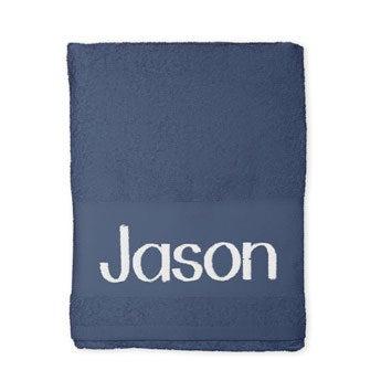 Handtuch mit Namen - Blau