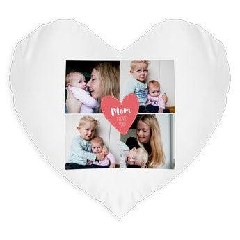 Almofada estampada - Dia da Mãe - Coração