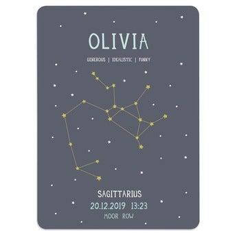 Cartaz do bebê de Milestone® - sinal do zodíaco