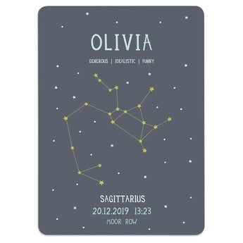 Milestone® baby poster - Star sign