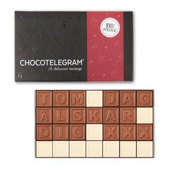 Choklad meddelande - 28 bokstäver
