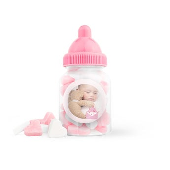 Cukríky v personalizovaných detských fľaškách