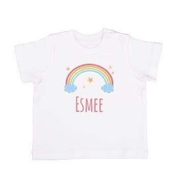 Baby T-shirt - Korte mouw - Wit - 74/80