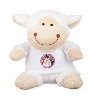 Personalised cuddly toy with photo - Sheep
